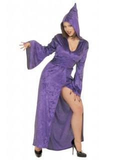 Edle Hexe Zauberin Halloween Damenkostüm lila