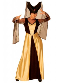 Dunkle Königin Damenkostüm gold-schwarz