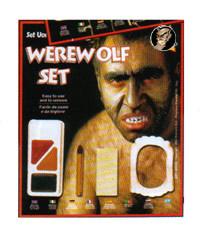 Werwolf-Schminkset Halloween 6-teilig bunt