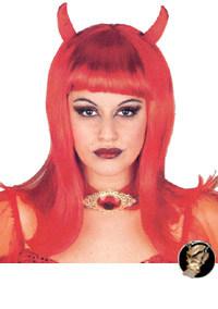 Sexy Teufelin-Perücke rot