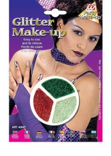 Glitzer-Make-Up silber-rot-grün 14g