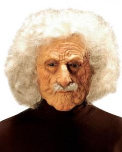 Wissenschaftler Maske mit Haaren weiss-hautfarben