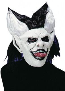 Horrorclown Maske schwarz-weiss
