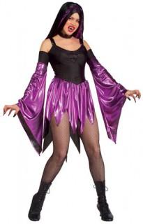 Süsse Vampirin Kostüm Halloween schwarz-lila