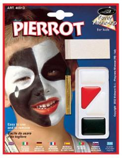 Make-up Clown für Kinder schwarz-rot-weiss