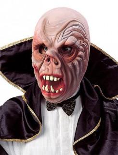 Schaurige Horrormaske Vampir-Maske hautfarben