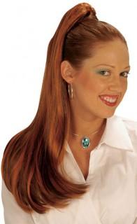 Lange Haarverlängerung Pferdeschwanz braun