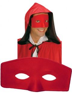 Venezianische Stoff-Augenmaske rot