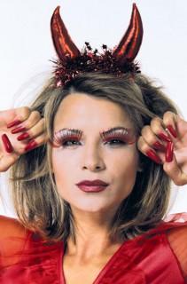 Teufelshörner Kostüm-Zubehör rot