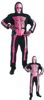 Skelett-Kostüm für Kinder Halloweenkostüm schwarz-pink