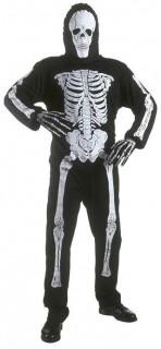 Skelett Kinderkostüm schwarz-weiss