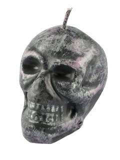 Totenkopf Kerze grau 6,5cm