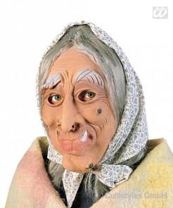 Hexen Maske mit Kopftuch bunt