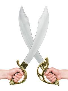 Piraten Schwert Säbel braun-gold-silber 56cm