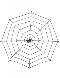 Spinnennetz mit Spinne schwarz 200cm