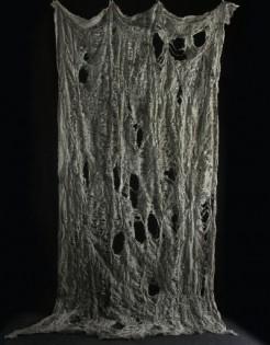 Halloween-Fetzenvorhang löchrig grau 120x250 cm