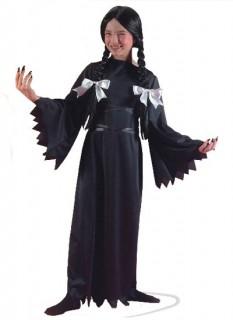 Gothic Vampir Halloween-Kinderkostüm für Mädchen schwarz