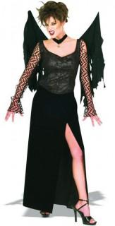 Gothic Vampirin Damenkostüm Fledermaus M schwarz