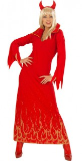 Teufelsweib Halloween Damenkostüm rot