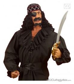 Rüschenhemd Pirat schwarz