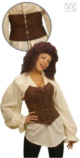 Piraten-Mieder für Damen braun
