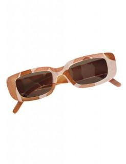 Camouflage Brille beige-braun