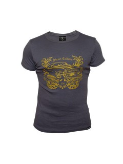 Tollwut Streetwear T-Shirt 'DIVINE' grau-gelb