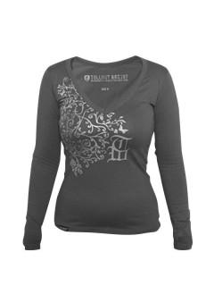 Tollwut Streetwear Sweatshirt Damen 'ADORATION' grau