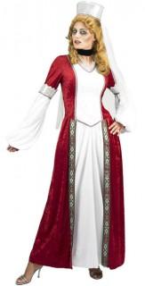 Gräfin Dracula Damenkostüm Halloweenkostüm rot-weiss