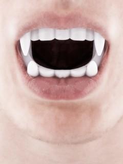 Dracula Zähne Vampirgebiss weiss