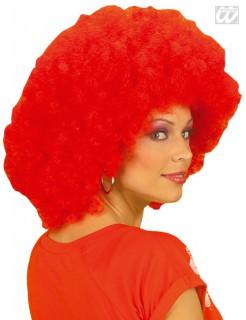 Afro Clownsperücke rot