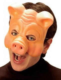 Schwein-Maske Halloweenmaske hautfarben