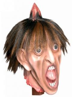 Abgehackter gepfählter Kopf Halloween Party-Deko beige-braun 80x21x18cm