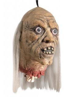 Abgehackter Zombie Kopf Halloween Party-Deko beige-grau 80x21x18cm