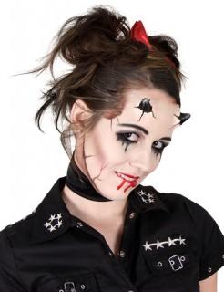 Latexhörner Halloween schwarz