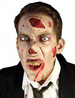 Make Up Set Halloween-Zubehör 8-teilig Zombie beige-rot