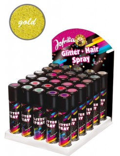 Glitter Haarspray gold