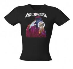 Helloween Girlie Shirt Keeper of the 7 Keys Bandshirt schwarz-bunt