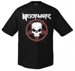 Nevermore Metal T-Shirt Tribal Skull Bandshirt schwarz-weiss-rot