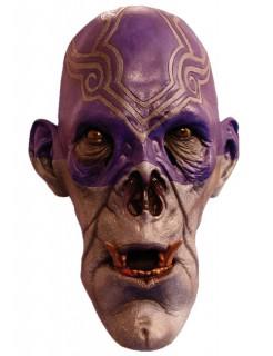 Zombie Schamane Halloween-Maske grau-blau
