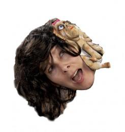 Kleine Schwester Horror-Perücke Halloween bunt