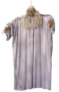 Gruseliger Geist Halloween-Hänge-Deko grau 122cm