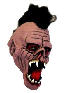 Zombie-Punk-Vollmaske Halloween bunt