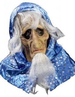 Baba Yaga Halloween-Maske haut-blau-weiss