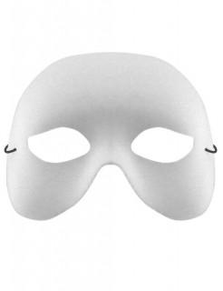 Venezianische Augenmaske Phantom weiss