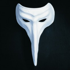 Pantalone Maske weiß