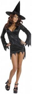 Zauberhexe Magierin Halloween Damenkostüm schwarz