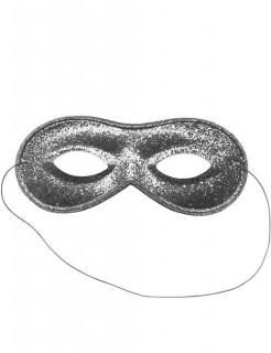 Venezianische Augenmaske silber glitter
