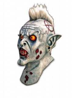 Zombie-Punk Maske bunt