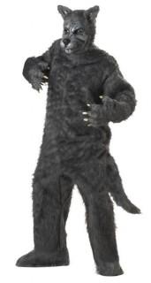Böser Wolf Halloweenkostüm grau